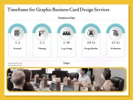 Timeframe For Graphic Business Card Design Services Ppt Outline