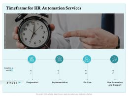 Timeframe For HR Automation Services Ppt Powerpoint Presentation Slides Example