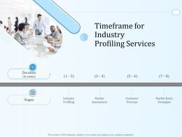 Timeframe For Industry Profiling Services Ppt Powerpoint Presentation Show Aids