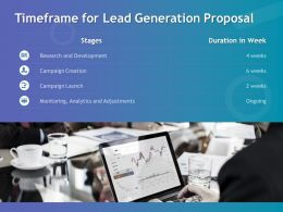 Timeframe For Lead Generation Proposal Ppt Powerpoint Presentation Ideas