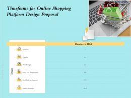 Timeframe For Online Shopping Platform Design Proposal Ppt Powerpoint Presentation Styles