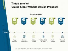 Timeframe For Online Store Website Design Proposal Ppt File Design