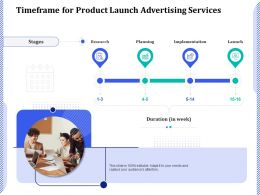 Timeframe For Product Launch Advertising Services Ppt Powerpoint Presentation Icon Styles