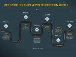 Timeframe For Retail Store Opening Feasibility Study Services Ppt Powerpoint Objects