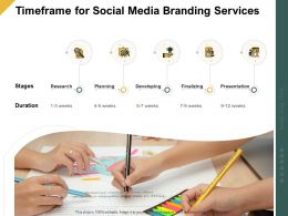 Timeframe For Social Media Branding Services Ppt Powerpoint Template Summary