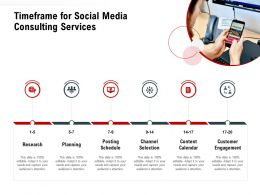 Timeframe For Social Media Consulting Services Ppt Powerpoint Influencers