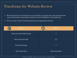 Timeframe For Website Review Meeting Ppt Example File