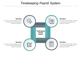 Timekeeping Payroll System Ppt Powerpoint Presentation Infographic Aids Cpb