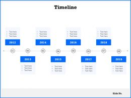 Timeline 2012 To 2019 C1068 Ppt Powerpoint Presentation Icon Summary