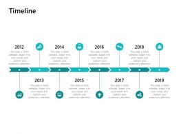 Timeline 2012 To 2019 L693 Ppt Powerpoint Presentation Outline Picture
