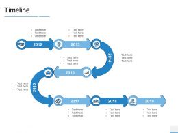 Timeline 2012 To 2019 Years F849 Ppt Powerpoint Presentation Show Gallery