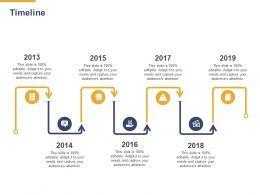 Timeline 2013 To 2019 L893 Ppt Powerpoint Presentation Inspiration