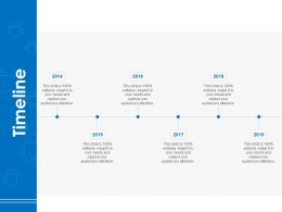Timeline 2014 To 2019 A807 Ppt Powerpoint Presentation Icon Demonstration