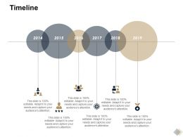 Timeline 2014 To 2019 L804 Ppt Powerpoint Presentation Icon Outline