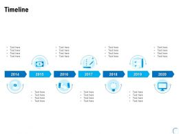 Timeline 2014 To 2020 L949 Ppt Powerpoint Presentation Summary Templates