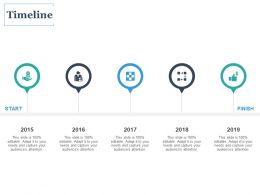 Timeline 2015 To 2019 C1081 Ppt Powerpoint Presentation Icon Vector
