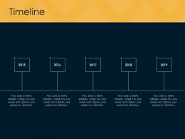 Timeline 2015 To 2019 F846 Ppt Powerpoint Presentation Portfolio Template