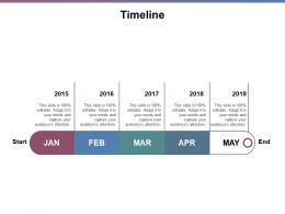 Timeline 2015 To 2019 J209 Ppt Powerpoint Presentation Gallery Model