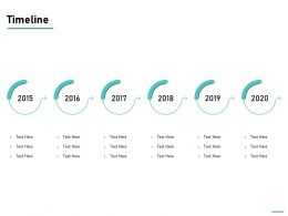 Timeline 2015 To 2020 L748 Ppt Powerpoint Presentation Outline