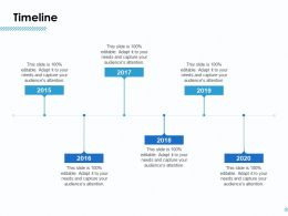 Timeline 2015 To 2020 L917 Ppt Powerpoint Presentation Styles Deck