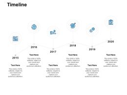 Timeline 2015 To 2020 L926 Ppt Powerpoint Presentation Styles Layout Ideas