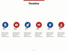 Timeline 2015 To 2020 Ppt Powerpoint Presentation Icon Templates