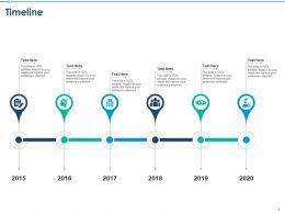 Timeline 2015 To 2020 Years Communication Management Ppt Presentation Layout