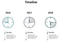Timeline 2016 To 2018 C714 Ppt Powerpoint Presentation Styles Gridlines