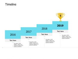 Timeline 2016 To 2019 C514 Ppt Powerpoint Presentation Professional Slideshow
