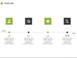 Timeline 2016 To 2019 C884 Ppt Powerpoint Presentation File Designs