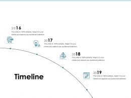 Timeline 2016 To 2019 j200 Ppt Powerpoint Presentation File Show