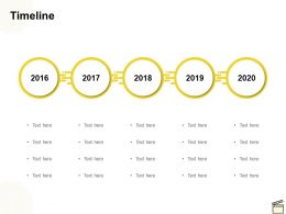 Timeline 2016 To 2020 C1156 Ppt Powerpoint Presentation Infographic Template
