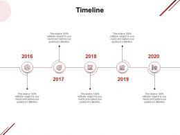 Timeline 2016 To 2020 F896 Ppt Powerpoint Presentation Summary Master Slide