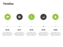 Timeline 2016 To 2020 F898 Ppt Powerpoint Presentation Pictures Icons
