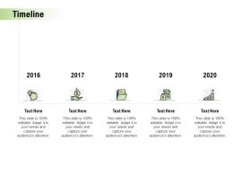 Timeline 2016 To 2020 L907 Ppt Powerpoint Presentation Summary Show