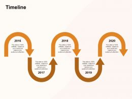 Timeline 2016 To 2020 M1188 Ppt Powerpoint Presentation Icon Example File