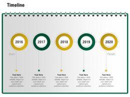 Timeline 2016 To 2020 M1244 Ppt Powerpoint Presentation Portfolio Guidelines