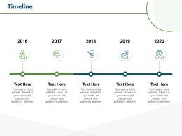 Timeline 2016 To 2020 M70 Ppt Powerpoint Presentation Gallery Smartart