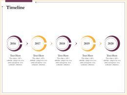 Timeline 2016 To 2020 N234 Ppt Powerpoint Presentation Icons