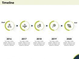 Timeline 2016 To 2020 N277 Ppt Powerpoint Presentation Slide Portrait