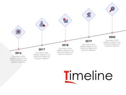 Timeline 2016 To 2020 Ppt Powerpoint Presentation Ideas Mockup