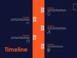 Timeline 2016 To 2020 Ppt Powerpoint Presentation Slides Icons
