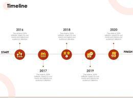 Timeline 2016 To 2020 Start N152 Powerpoint Presentation Topics