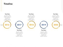 Timeline 2016 To 2020 Years Audit Ppt Powerpoint Presentation Infographics