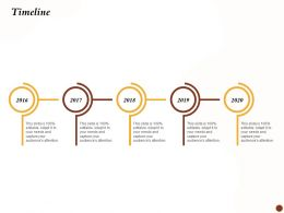 Timeline 2016 To 2020 Years Debt Restructuring Ppt Presentation Rules