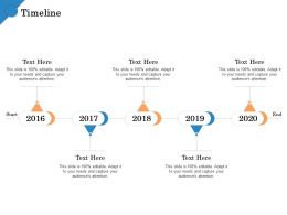 Timeline 2016 To 2020 Years Quality Standards Manufacturing Ppt Microsoft