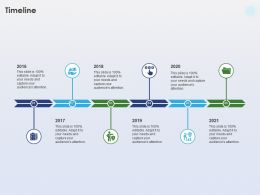 Timeline 2016 To 2021 Years Transportation Industry Ppt Powerpoint Icon