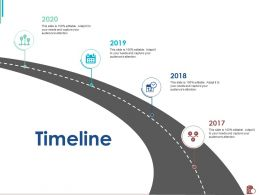 Timeline 2017 To 2020 M2393 Ppt Powerpoint Presentation Outline Template