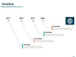Timeline 2017 To 2020 Ppt Powerpoint Presentation Professional Objects