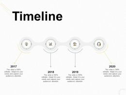 Timeline 2017 To 2020 Ppt Powerpoint Presentation Summary Aids